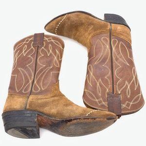 Hyer Shoes - HYER Vintage Cowboy Boots Suede & Leather Sz 6